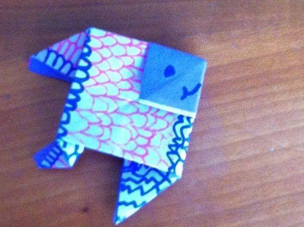 Les petits poissons en origami